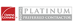 Owens Corning Platinum Preferred Contractor Rating